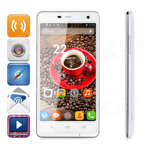 ThL 4400 Quad-core Android 4.2.2 WCDMA Bar Phone w/ 5.0 HD, OTG, 4400mAh Battery - White