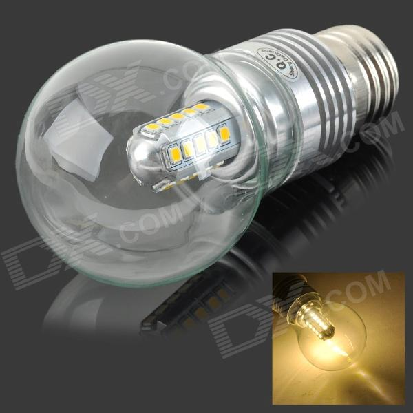 5W E27 450LM 3500K 25-2835 SMD LED Warm White Light Bulb - Silver (AC 85~265V) honsco e27 5w 400lm 3000k 84 smd 2835 led warm white light bulb white silver ac 85 265v