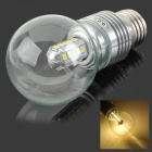 5W E27 450LM 3500K 25-2835 SMD LED Warm White Light Bulb - Silver (AC 85~265V)