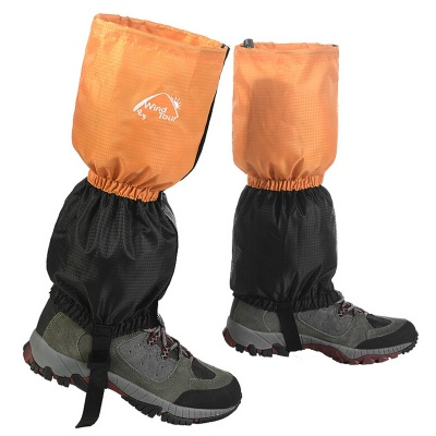 Wind Tour WT073001 Outdoor Waterproof Breathable Snow Shoes Cover - Orange + Black (Pair)