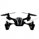 JD-385 Mini Wireless 2.4G 4-Axis 6-Channel Aircraft w/ IR Remote Control - Black + White