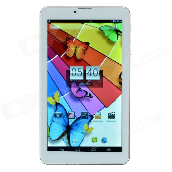 "Changhong T8 7"" firekjerners Android 4.2.2 telefon Tablet PC med SIM / TF / Wi-Fi / Bluetooth / GPS"