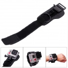 Fat Cat M-W3+ Ergonomic Velcro Wrist Strap Mount w/ Safety Clip Lock for GoPro Hero 3+ - Black