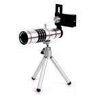 18X Aluminum Alloy Telephoto Lens Set for IPHONE / Samsung / HTC / Sony + More - Silver