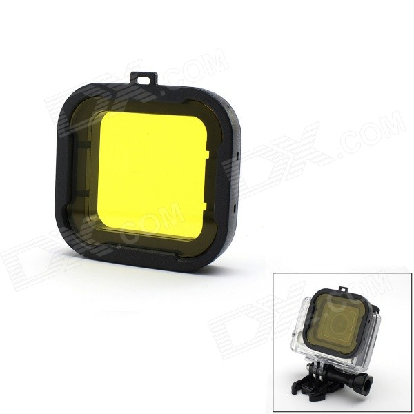 JUSTONE J049-1 58mm Underwater Dive Filter Converter for Gopro Hero 4/ 3+ - Black + Yellow Jersey City Цены на товары