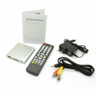 Mini Jesurun MP021 1080p Full HD Media Player w / HDMI / USB / SD / AV / YUV - plata