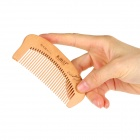 Mutouji TM1716 + TM1118 Blossom Painted Anti-static Peach Wooden Combs - Brown (2 PCS)