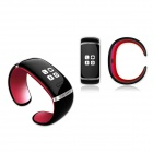 OLED Bluetooth V3.0 Smart Touch Bracelet Watch w/ Music Player / Pedometer - Black + Red