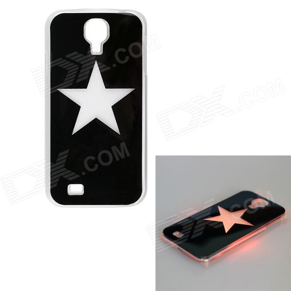 Pentagram malli LED Flash valo suojaava ABS Back kotelo Samsung Galaxy S4 i9500 - musta