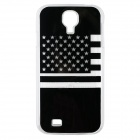 U.S Flag Pattern LED Flash Light Protective ABS Back Case for Samsung Galaxy S4 i9500 - Black