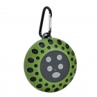 BTS-25 Water Resistant 3W Bluetooth V3.0 Hands-free Speaker w/ Microphone / FM - Dark Green + Black