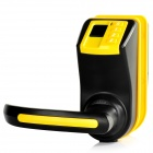 Adel LS9 Fingerprint / Passwords / Key Hotel Door Lock Set - Black + Yellow (4 x AAA)