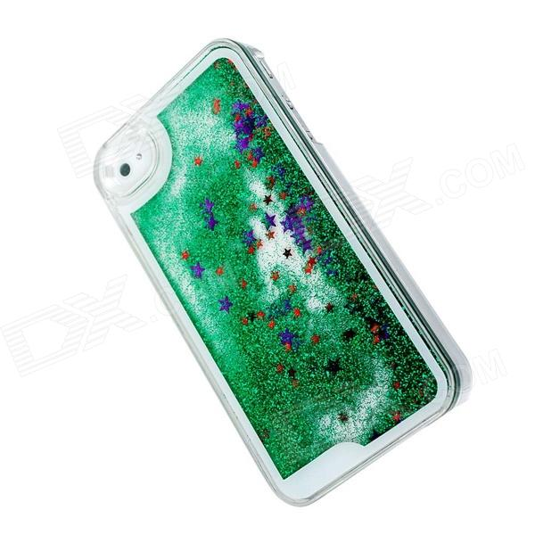 Creative Twinkling Star and Drift Sand Protective PC Hard Case for IPHONE 4 / 4S - Green llama llama sand and sun