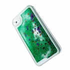 Creative Twinkling Star and Drift Sand Protective PC Hard Case for IPHONE 4 / 4S - Green