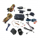 "A91 Two Way Car Alarm System w/ 1.5"" LCD Remote Controller / Alarm System for Russia - Deep Blue"