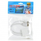 1 - a 2 VGA hembra al adaptador de HDMI + USB Macho Macho HD Video Cable de conexión - Blanco