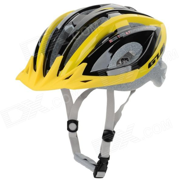 GUB X3 16-Hole Outdoor Mountain / Road Cycling Bike Helmet - Yellow + Black