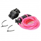 TONYON TY566 Universal 5-Digit Password Security Anti-Theft Bicycle Bike Lock - Deep Pink