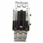 L1 Men's 28-LED Blue Light Digital Zinc Alloy Wristwatch - Silver (1 x CR2032)