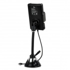 Bestphone 868C Universal FM Transmitter w/ Suction Cup for IPHONE + More - Black (12~20V)