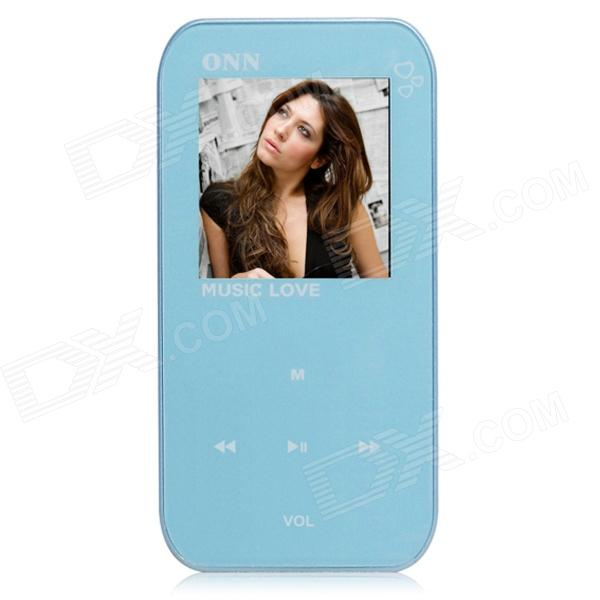 ONN Q2 Ultra-Slim 1.5 TFT Screen Sporting MP4 Player w/ FM / USB 2.0 / 3.5mm - Blue (8GB) onn q6 mini 1 5 screen mp3 player w fm clip silver 4gb