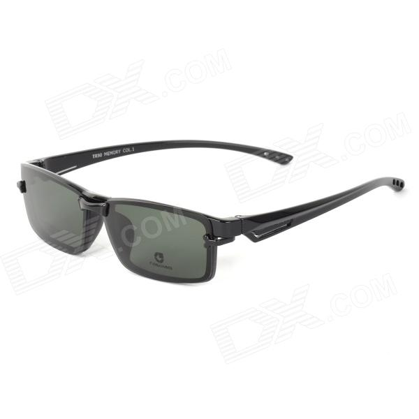 FALEIAO F5129 Universal Ultra Light Dual-use TR90 Myopia Frame Resin Polarized Lens Sunglasses hercules 5129