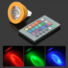 ShengDaGuang MR16 2.5W 12V 90lm RGB LED Spotlight w/ Remote Controller - White + Golden