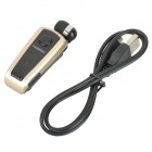 Fineblue F910 Retractable Bluetooth V3.0 Single-Ear In-Ear Earphone w/ Mic - Black + Golden