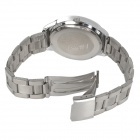 NARY 6031 Stainless Steel Band Quartz Wristwatch for Lovers / Couples - Silver (Pair / 1 x SR626)