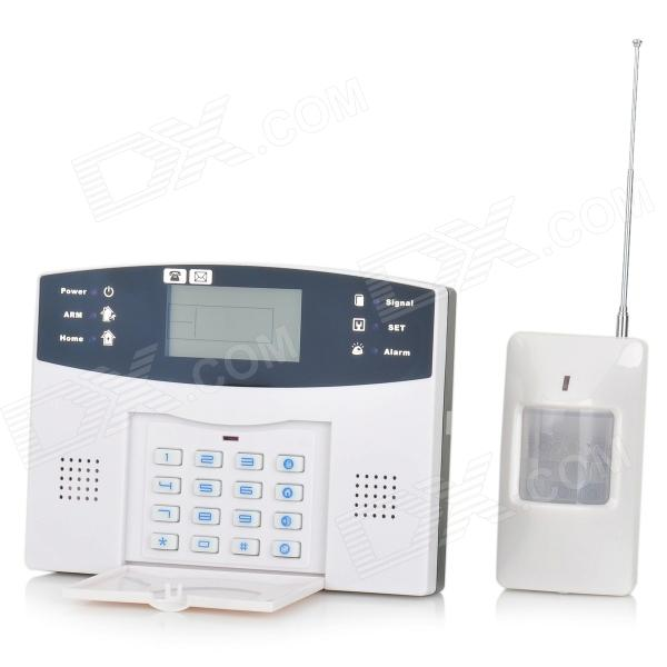 M2B Home Security Quad-Band 315MHz GSM Wireless Alarm System Set - White ( 1 x AAA / AC 100~240V)
