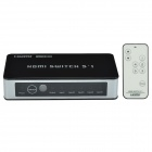 CHEERLINK HSW0501BN 5-In 1-Out 1080P 5-Port HDMI1.3 Switch w/ Remote Control / EU Plug
