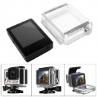 "Fat Cat B-P3+ 2.0""  TFT LCD Screen w/ Waterproof Back Case for GoPro Hero 3+ - Black + Transparent"