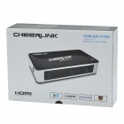 CHEERLINK HSP0102BN 1-In 2-Out 1080P HDMI V1.3 Splitter w/ EU Plug