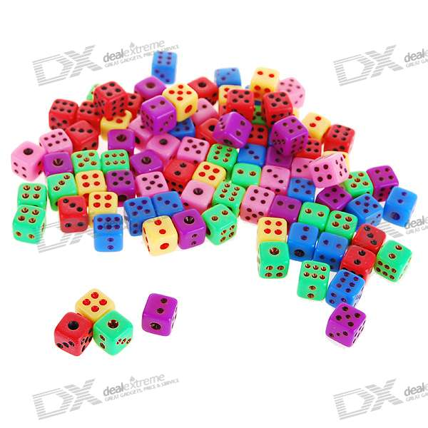 Colorful 8mm Super Mini Gaming Dice (50-Pack)