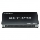 CHEERLINK HTM0404ANR 4-In 4-Out Full HD 1080P HDMI V1.3 vera matrice w / US Plugs-nero + argento