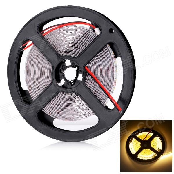 HML L14 60W 7200lm 3300K 600-SMD 3014 LED Warm Light Strip - White + Yellow (5M / DC 12V)