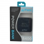 "iFans Universal Portable 0.7"" LCD 8400mAh Li-ion Battery Power Bank for IPHONE / IPOD / IPAD + More"