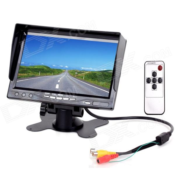 7 TFT LCD 2-CH Digital Rear View Monitor w/ Sunshade + Remote Control (PAL & NTSC) 7 lcd rearview monitor w remote controller black pal ntsc