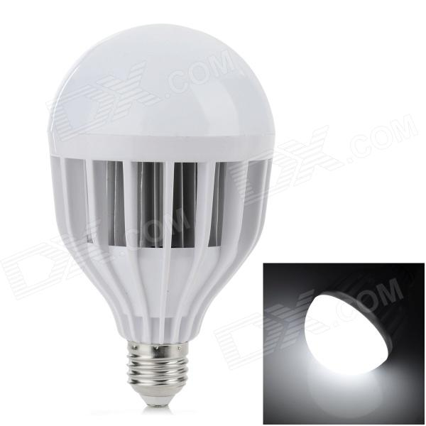 E27 15W 550lm 6000K 30-SMD 5730 LED White Light Bulb - White + Silver (AC 220V) lexing lx r7s 2 5w 410lm 7000k 12 5730 smd white light project lamp beige silver ac 85 265v