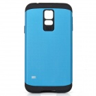 Fashionable Armor Style Protective PC + Silicone Back Case for Samsung Galaxy S5 - Blue + Black