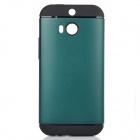 Fashionable Armor Style Protective PC + Silicone Back Case for HTC ONE 2(M8) - Green + Black