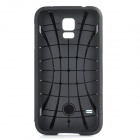 Fashionable Armor Style Protective Silicone + PC Back Case for Samsung Galaxy S5 - Green + Black