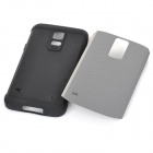 Fashionable Armor Style Protective PC + Silicone Back Case for Samsung Galaxy S5 - Grey + Black