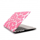 "Hat-Prince Deer Pattern Protective Full Body Matte Case for MacBook Air 13.3"" - Pink"