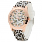 WO MA GE 1085 Alloy Case Silicone Band Quartz Analog Wrist Watch for Women - White + Black + Golden