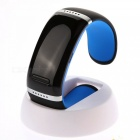 Bluetooth Smart Touch Bracelet Watch w/ Player, Pedometer - Black+Blue