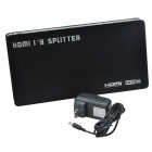 HSP0108AN 1-In 8-Out Full HD 1080P HDMI 1.3 divisore dell'amplificatore w / spine US-nero + argento