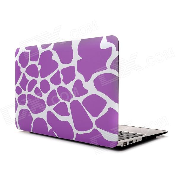 "Hat-Prince Deer Pattern Protective Full Body Matte Case for MacBook Air 13.3"" - Purple"