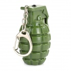 Creative Hand Grenade Style Key Chain with White LED Flashing Light - Green (3 x AG10)