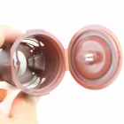 Handy Portable PVC Coffee Filters w/ Small Spoon - Brown + Silver (3 PCS)